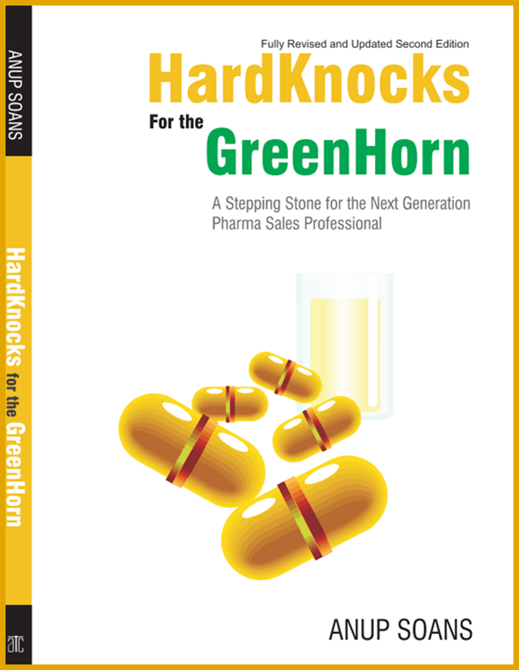 HardKnocks for the GreenHorn | Anup Soans | Front-line Managers, Pharma, Pharmaceuticals, Sales, India, Training, Books