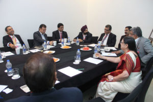 (L-R) Sujay Shetty - Partner, PwC; Deep Bhandari - Director Marketing and Sales Excellence at UCB;  Amlesh Ranjan - Deputy Director, Transplant-Renal & Oncology, Sanofi; Jagmohan Singh Rishi - AVP Learning &Development, Business Analytics & Digital, Wokhhardt; Sanjay Dhawan - Partner, PwC; Shankar - Zydus Cadila; Satya Mahesh - Head, Business Excellence Boehringer Ingelheim; Sai Kumari - Head, Center for Excellence The Himalaya Drug Company