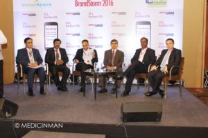 (L-R) Darshan Patel - Partner, PwC; Krishna Singh - Founder-CEO, GlobalSpace Technologies; Vikas Dandekar- Editor Pharma, The Economic Times; YS Prabhakar - CEO, Sutures India; CT Renganathan - Managing Director, RPG LifeSciences; Ali Sleiman - General Manager India, Merck Serono
