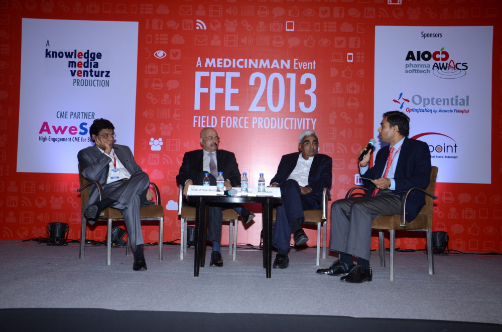 (L-R) Shakti Chakraborty - President, Lupin; Ganesh Nayak - COO and Executive Director, Zydus Cadila Healthcare; Bhaskar Iyer - Divisional VP, India Commercial Operations, Abbott; Sujay Shetty - Partner, PwC
