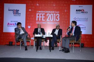 (L-R) Shakti Chakraborty - President, Lupin; Ganesh Nayak - COO and Executive Director, Zydus Cadila Healthcare; Bhaskar Iyer - Divisional VP, India Commercial Operations, Abbott; Sujay Shetty - Partner, PwC